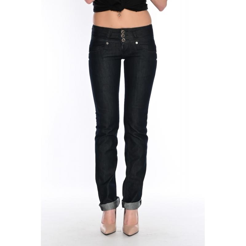 Темно-синие джинсы женские от омат