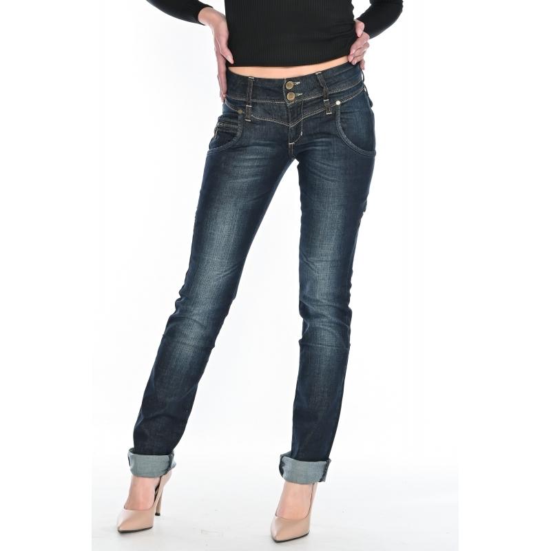 Женские джинсы омат jeans 9563 темно-синие