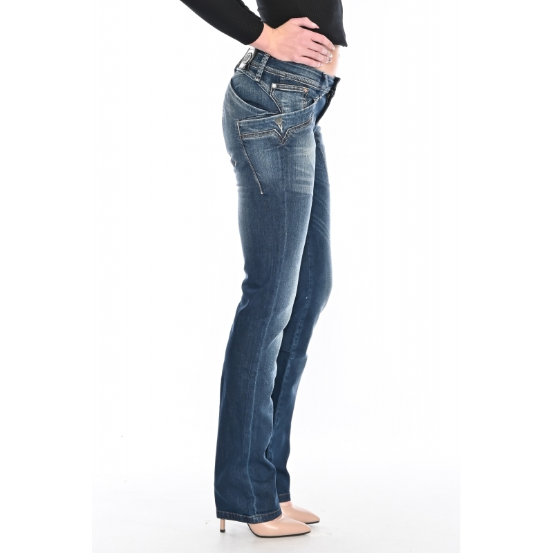 Женские джинсы OMAT 9569 синие