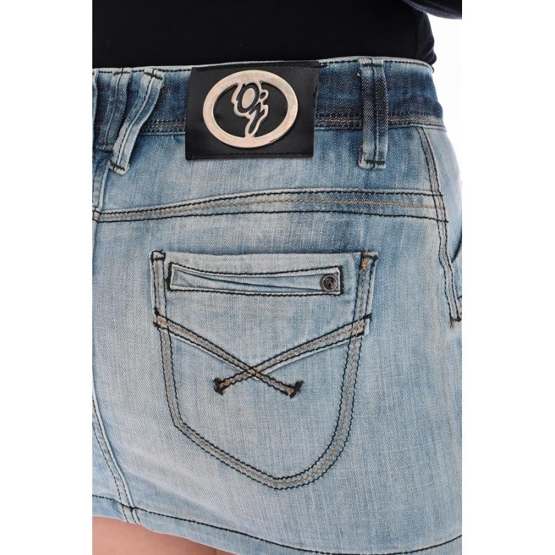 Юбка джинсовая омат 1398 синяя