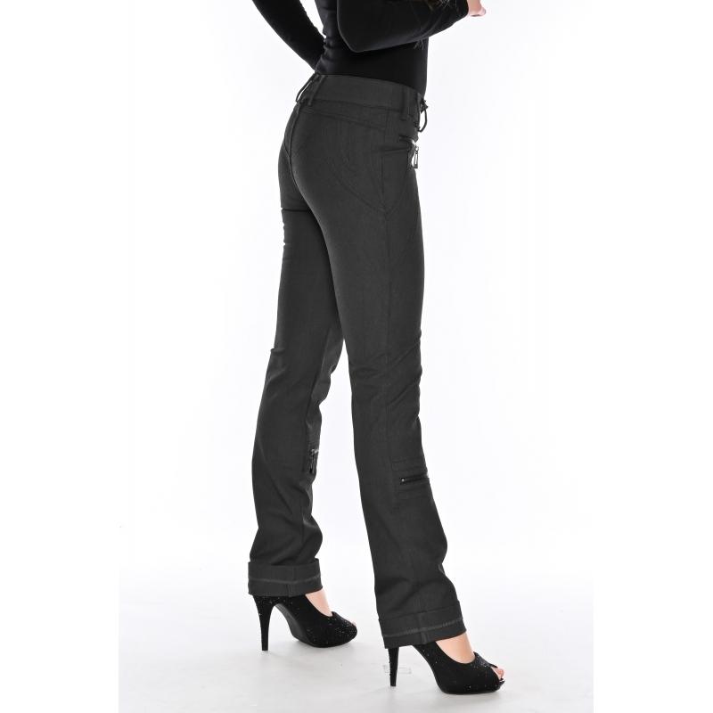 Женские брюки OMAT jeans 9409 черные