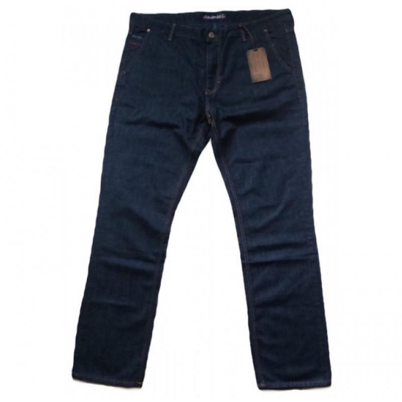 Темно-синие джинсы большие размеры