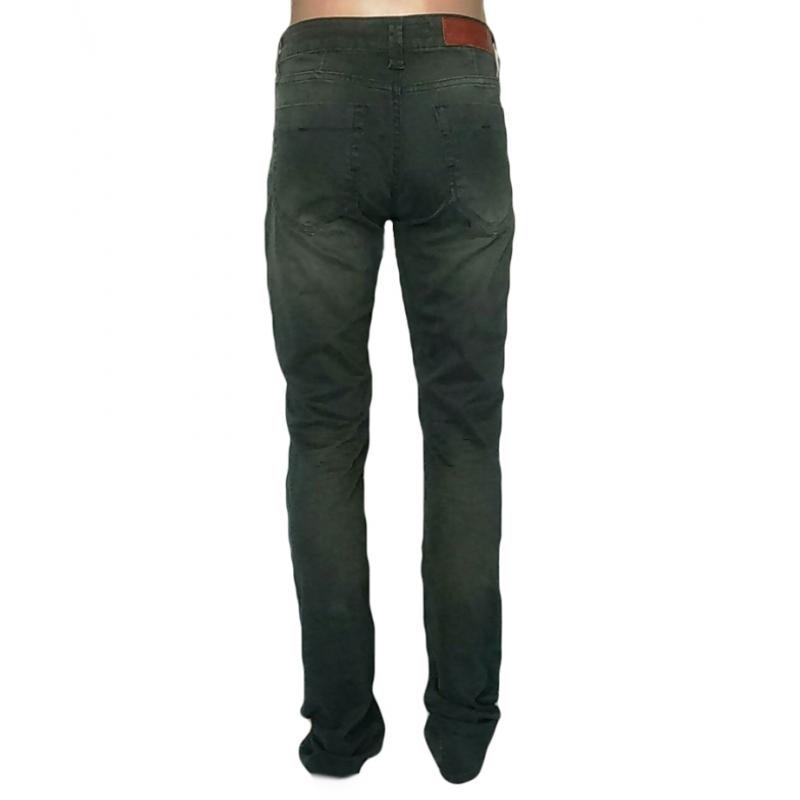 Мужские джинсы цвета хаки 14-253